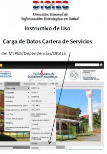 Instructivo para Carga de Cartera de Servicios